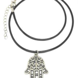 Hamsa Cord Necklace