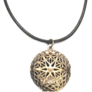 Bronze Locket Cord Necklace