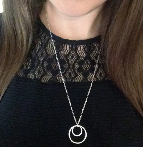 Double circle of karma necklace