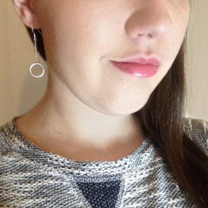 Small Circle of Karma Drop Chain Earrings