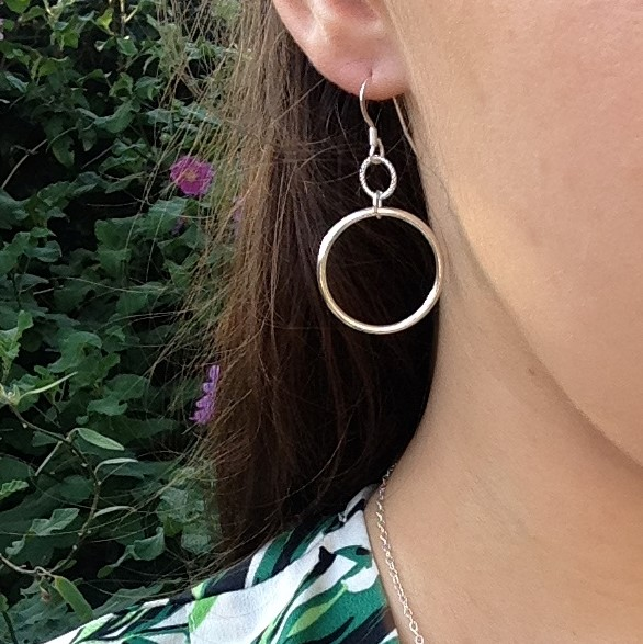 Double Circle of Karma Earrings