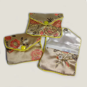 Small jewellery pouches - gold