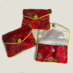 Small jewellery pouches - red
