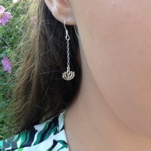 Lotus Chain Earrings