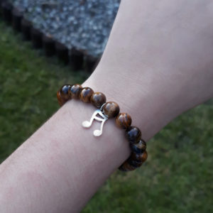 Tigers Eye crystal elastic bracelets