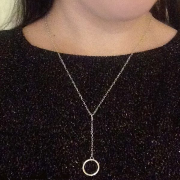Drop Chain Circle of Karma Necklace